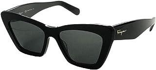Ferragamo Sunglasses Butterfly Shape For Women - Black , SF929S-001-55