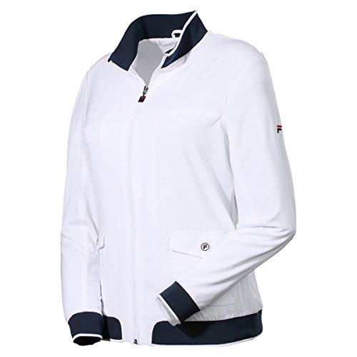Fila Damen Jacket Jasmine Women Trainingsanzüge, weiß, M