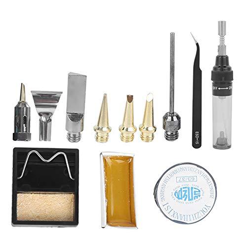 Fer à souder au gaz Type de stylo Fer à souder au gaz méthane Outil de soudage à température réglable Paquets de combinaison de boîte en plastique