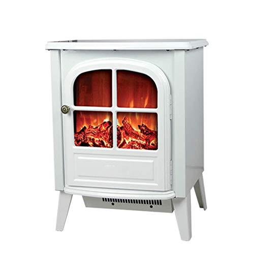 RENJUN- Freistehend Elektrokamin Kami Flammenunabhängiger Schalter Auslass Der Unteren Heizung Leistung 1600W Mit Einstellbarer Konstanter Temperaturregelung 36x45x20cm (Color : White)