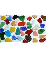 300 g, Tiffany-glas glasstukken ca. 2-5 cm kleurrijk breukmozaïek