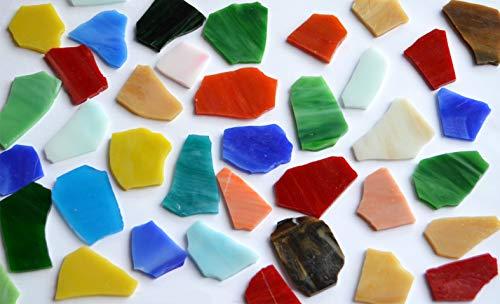 300 g, piezas de cristal Tiffany de aprox. 2 – 5 cm, multicolor