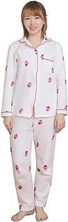 YKZX パジャマ レディース 長袖 ルームウェア 綿100% 上下セット春秋冬 部屋着 シンプル パジャマ もこもこ かわいい ソフト 柔らかい