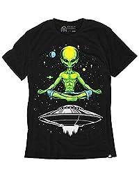 Glow In The Dark Peace Alien Short Sleeve T-Shirt