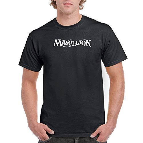 DAXIANIU Herren T-Shirts Marillion Logo Cotton T-Shirts Black
