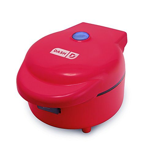 Dash Maker Machine for Individual Belgian Waffles, Taco Bowls, Chicken & Waffles & Other Sweet or Savory Treats, single, Red