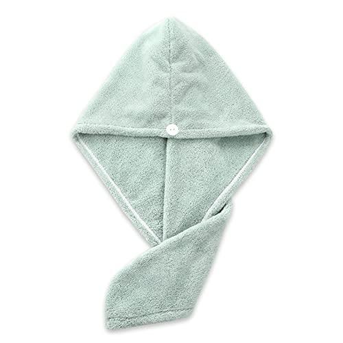 BBNBY Sombrero para secar el Cabello Toalla de Microfibra para el Cabello Secado rápido Toalla de absorción Turbante Gorro para secar el Cabello Herramienta de baño para el hogar (Color: 04Green)
