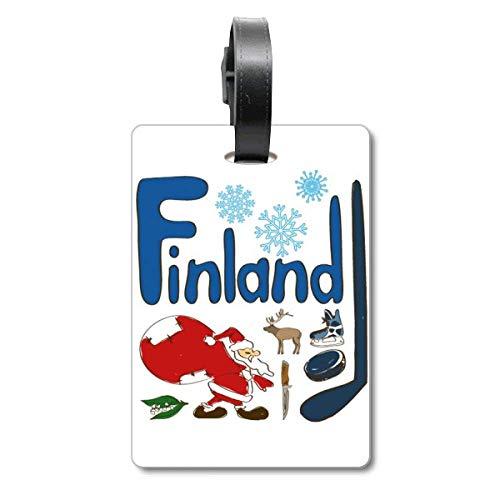 Etiqueta de identificación para Maleta con diseño de símbolo Nacional de Finlandia, Etiqueta de identificación para turistas