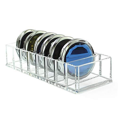 Boîtier de Rangement en Acrylique Transparent pour Maquillage, Organisateur, boîtes pour poudres cosmétiques pour Le Fard à paupières (Color : Clear, Size : 25.5 * 8.8 * 4.7cm)