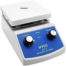 HYCC SH-2 HotPlate ماتریس مغناطیسی آزمایشگاهی، پشتیبانی 30mm Mixer Bar و Thermometer، آلومینیوم پانل 120x120mm، نوع گرمایش و ترک خوردگی