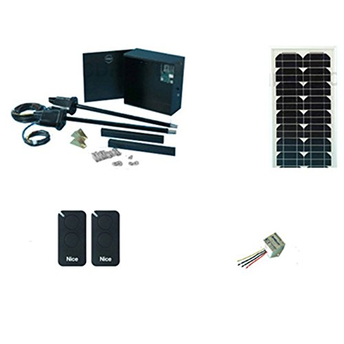 Read About Apollo 1600N Swing Gate Opener 20 Watt Solar Package with Solar Charge Controller, Two AP...