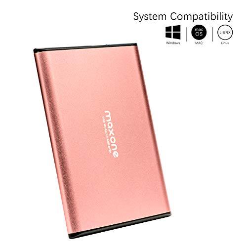 Externe Festplatte tragbare 160GB-2,5Zoll USB 3.0 Backups HDD Tragbare für TV,PC,Mac,MacBook, Chromebook, Wii u, Laptop,Desktop,Windows (160GB, Pink)