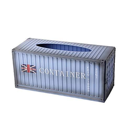 HTQ Caja de Tejido Estilo Industrial Caja de Dibujo de Hierro de Hierro Forjado Caja de Estar de la Sala de Estar Decoración de Escritorio Caja de mobiliario (Color : D, Size : 31.4 * 12.5 * 14CM)