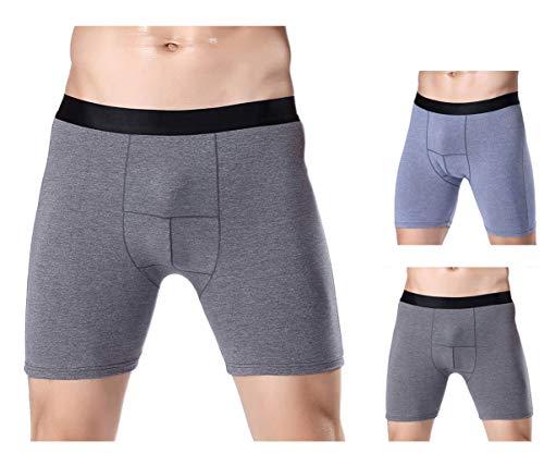 Panegy 2er Pack Herren Sport Boxershort Langes Bein Unterhose Unterwäsche Baumwolle Retroshorts Briefs