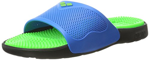 arena Unisex Massage Badesandale Marco X Grip (Massagenoppen, Rutschfest), Solid Lime-Turquoise (37), 41