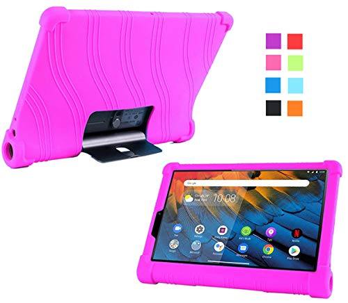 YGoal Funda para Lenovo Yoga Pad Pro - Cubierta Protectora a Prueba de choques Suaves para niños de Peso liviano Silicona Case Cover para Lenovo Yoga Pad Pro 13 Pulgada K606F Tablet, Rosa