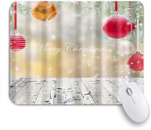 HASENCIV Alfombrilla de Ratón,Hermosas Luces Rojas y Grises Feliz Navidad,Alfombrilla de ratón Gaming,Base de Goma Antideslizante,Mouse Pad para Oficina 24 x 20 cm