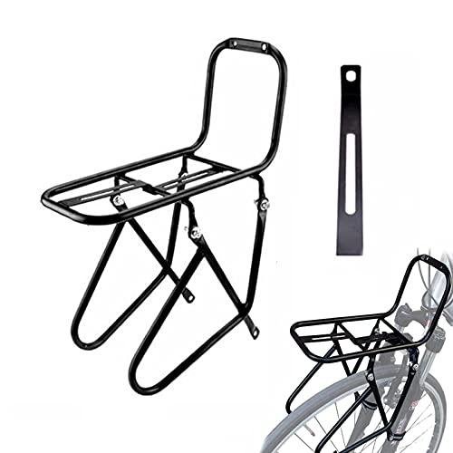 Amacthysh Soporte Delantero para Bicicleta De MontañA, Adecuado para Todos Los Frenos De Disco En V, Soporte Delantero De Acero para Horquilla Delantera para Exteriores