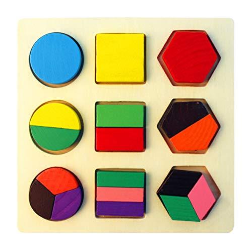 nbvmngjhjlkjlUK Tablero de geometría, Rompecabezas para niños de la Primera Infancia Rompecabezas de Madera Tablero de Forma geométrica Tablero a Juego cognitivo (174 / alícuota de Forma)