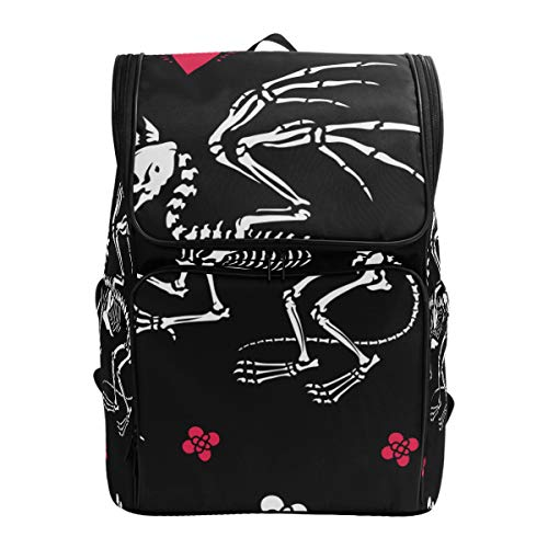 LISNIANY Computer Bag,Skeleton Gryphon Bones Hearts,Large Capacity Backpack,Travel Backpack,Schoolbag