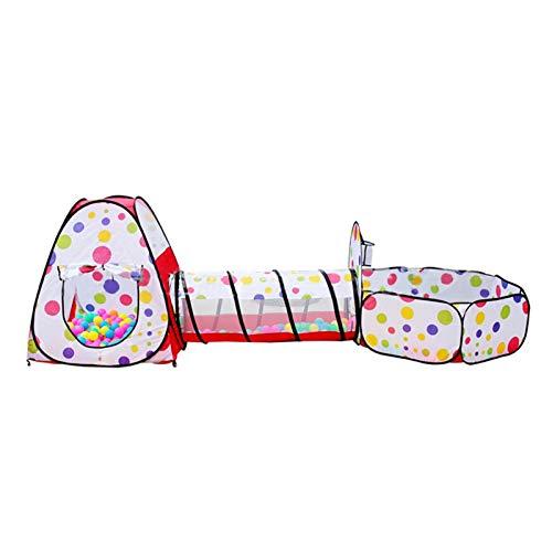 ZXQC Baby Playpen Plegable 3 En 1, Pit Ball Pit, Regalo De Los Niños Adecuado para Niños Pequeños Y Juego, Túnelo Túnel Túnel Baby Ocean Ball Pool Pit (Color : 3 in 1 Black Dots)
