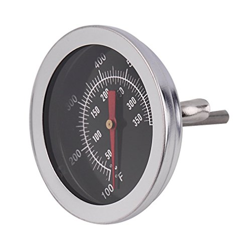 Generic Barbecue BBQ Grill Thermometer Temp Gauge Outdoor Camping Cook Food Tool Silber
