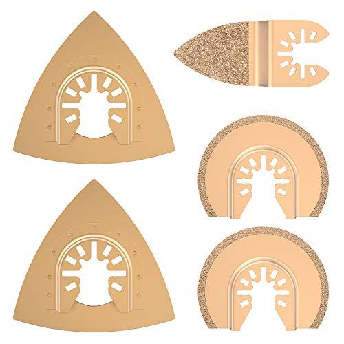 5 x Hartmetall-Oszillierwerkzeug, Diamant-Sägeblätter, Multitool-Zubehör für Fein Multimaster Bosch