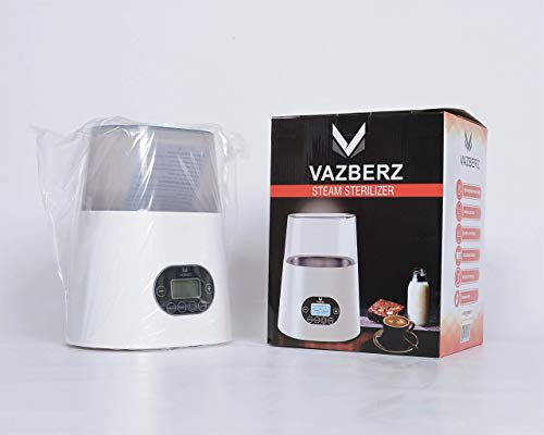 Baby Bottle Sterilizer, Warmer and Cooker. High Temperature Steam Sterilizer, Stainless Steel Liner, Double-Screen Display, LCD Intelligent Display, Intelligent Dry Burning, Intelligent Touch
