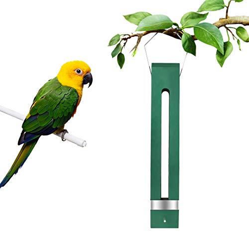 Comedero para pájaros, FayTun colgante de madera para semillas de pájaros, alimentador de pájaros duradero a prueba de ardillas para decoración de jardín al aire libre