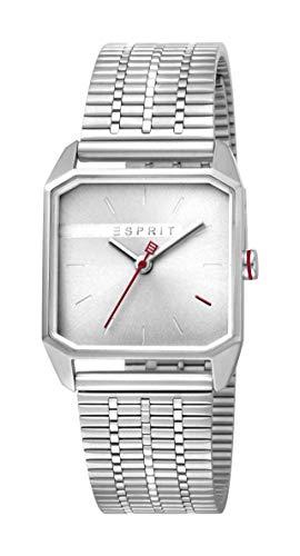 Esprit Damen Analog Quarz Uhr mit Edelstahl Armband ES1L071M0015