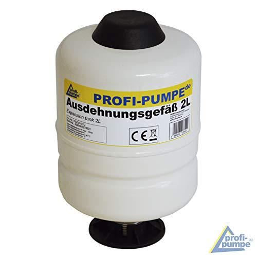 Ausdehnungsgefäß 2L / 8L Drucktank für Pumpe Pumpensteuerung Membrankessel Druckbehälter für Pumpensteuerung INVERTER, Durchflusswächter (2L)