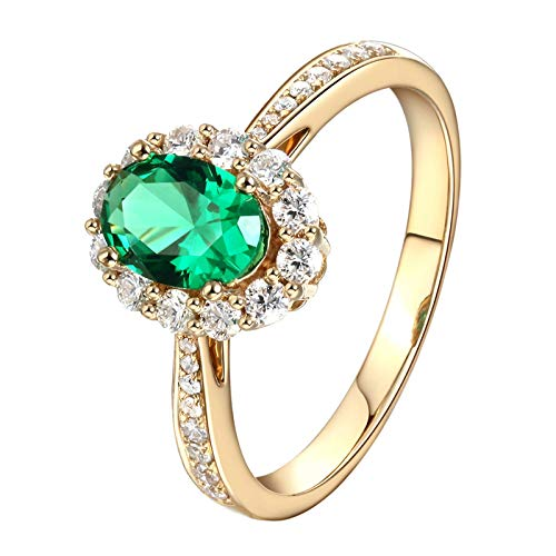 Aimsie Gold ring, oval shape ring, 18 carat (750) yellow gold, engagement rings, yellow gold 0.85ct