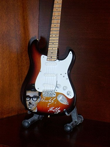 Little Shop Guitars Mini Guitar Buddy Holly Portrait Display Gift