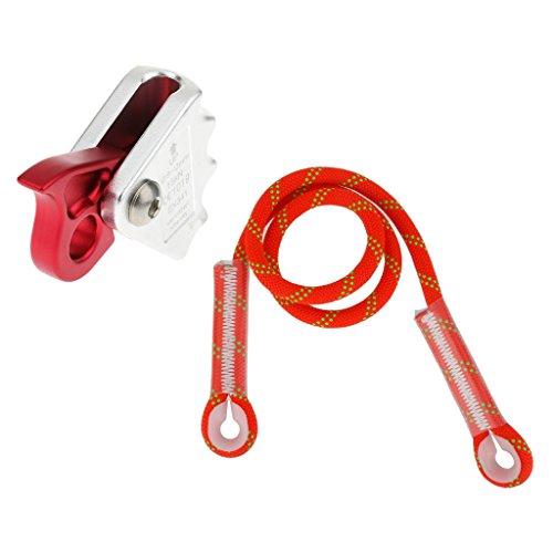 MagiDeal 15KN Outdoor Klettern Baumpfleger Seil Grab Ausrüstung Aluminiumlegierung + Fallschutz Seil