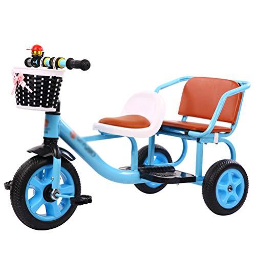 Tricycle Kinder Dreirad Laufrad - Kinder Dreirad, Doppelsitze, Erweiterte Pedale, Für Jungen Im Alter Von 1 Bis 6 Jahren