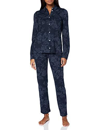 Marc O'Polo Body & Beach Damen W-LOUNGESET LS Pyjamaset, Blauschwarz, M