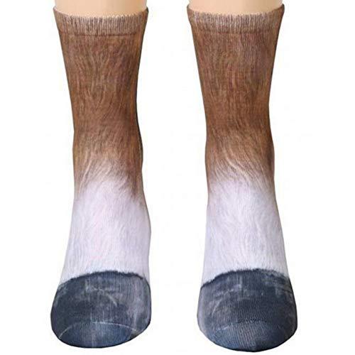 Animal Paws Socks Novelty Animal Socks Crazy 3D Cat Dog Tiger Paw Crew Socks Funny Gift for Men Women Girl Boy