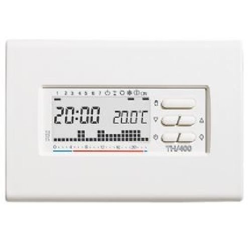 Cronotermostato elettronico digitale settimanale bianco TH/400 BB