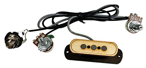 """3-string Cigar Box Guitar Pickup with Volume & Tone - The""""Electric Delta"""" - No Soldering Required!"""