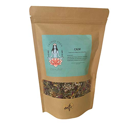 Yoni Steam Herbs Calm Organic Herbal Blend For Yoni Steaming Increase Energy Reduce Stress Relaxing and Rejuvenating frankincense and Myrrh Herbal Mix