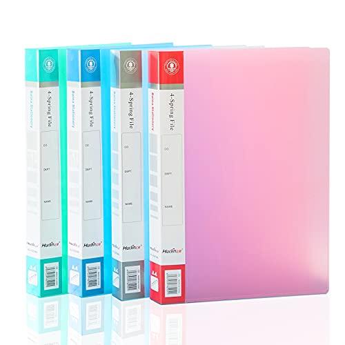 Ringbuch A4 Schmal 2-Ring-Mechanik für Die Uni, TOYESS Plastik (PP) Din A4 Ordner 25 mm Breit Ideal für Schulsachen & Vorlesungen, 4 Stück Süß Farben