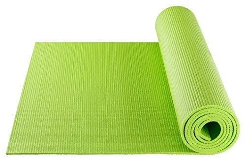 BODYMATE Yogamatte Universal Apfel-Grün - Größe 183x61cm – Dicke 5mm – Schadstoffgeprüft frei von Phthalaten, BPA, Schwermetallen – Trainings-Matte für Fitness, Yoga, Pilates, Functional