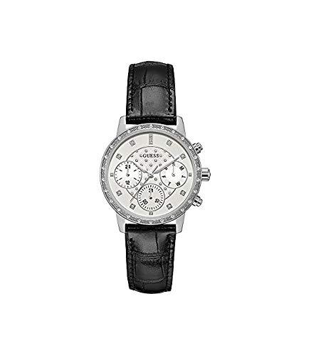 Guess Reloj Analógico para Mujer de Cuarzo con Correa en Cuero W0957L2
