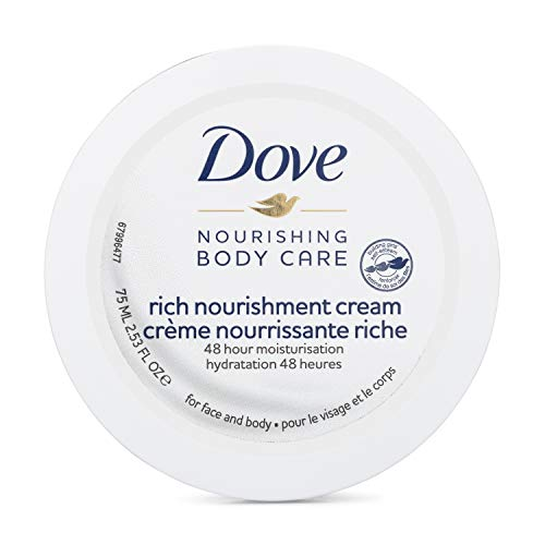 Dove Nourishing Body Care Rich Nourishment Cream with 48 Hour Moisturization (2.53 Fl OZ)