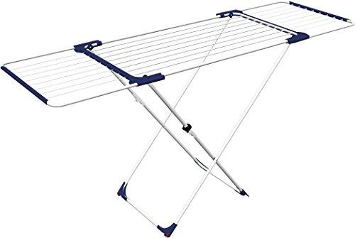 Gimi Aliante Tendedero de pie extensible, de acero y aluminio, 20 m de longitud de tendido