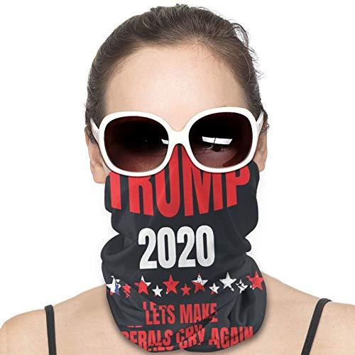 RELAXLAMA Trump 2020 Make Liberals Cry Again Neck Gaiter Face Mask Protection Cover Scarf Shield Bandana Towel for Men Women