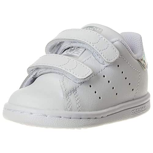 adidas Stan Smith CF I, Scarpe da Ginnastica Bimbo 0-24, Bianco (Cloud White/Cloud White/Core Black), 21 EU