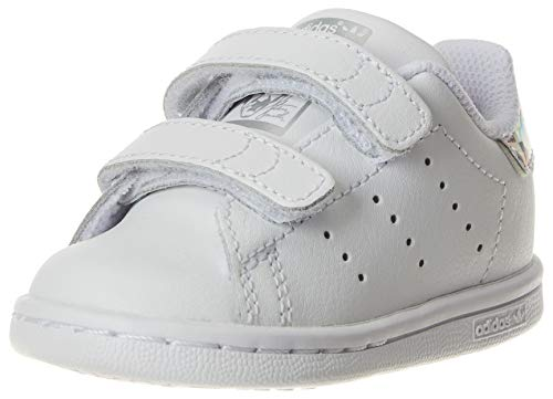 adidas Unisex-Baby Stan Smith CF I Sneaker, Cloud White/Cloud White/Core Black, 22 EU