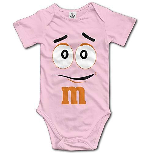 SDGSS Combinaison Bébé Bodysuits Baby Child 100% Cotton Short Sleeve One-Piece Suit Toddler Bodysuit M&M's Candy Silly Character Face Climbing Clothes