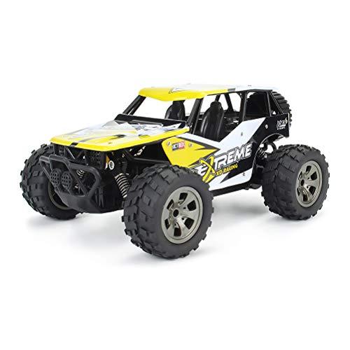 1812-A, 1899/12/30 1: 18: 00,2WD, 18KM / h, Creamon Remote Control Car 1:18 Hochgeschwindigkeits-Wüsten-Buggy-Fahrzeug 2,4 GHz Rennwagen Spielzeug Geschenk für Kinder Gelb